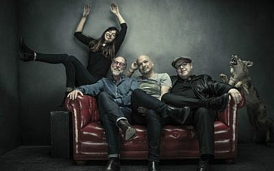 The four Pixies, including vocalist Black Francis, lead guitarist Joey Santiago, bassist Paz Lenchantin and drummer David Lovering (Courtesy)