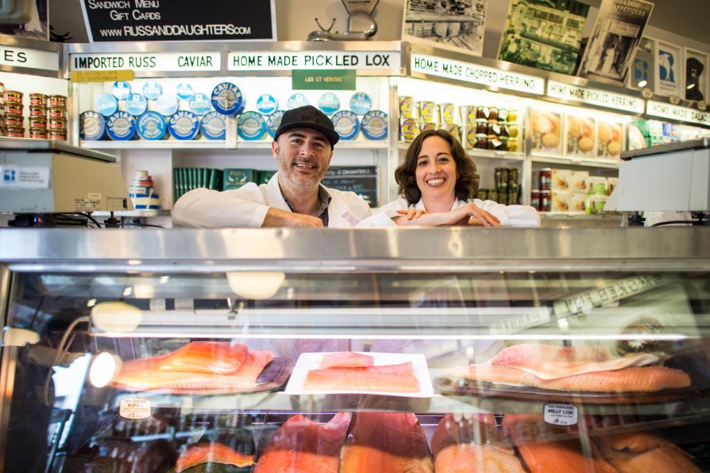 Russ & Daughters fourth-generation owners Niki Russ Federman and Josh Russ Tupper. (Courtesy Russ and Daughters)