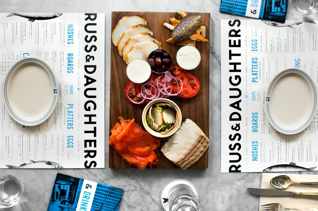 A smoked fish platter from Russ and Daughters Cafe. (Courtesy Russ and Daughters)