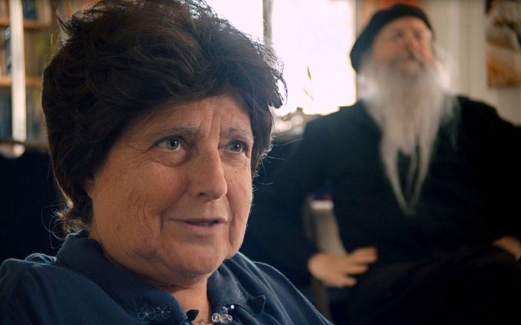 Sarah Nachshon in a scene from the documentary 'The Settlers,' directed by Shimon Dotan. (Image courtesy of Philippe Bellaiche)