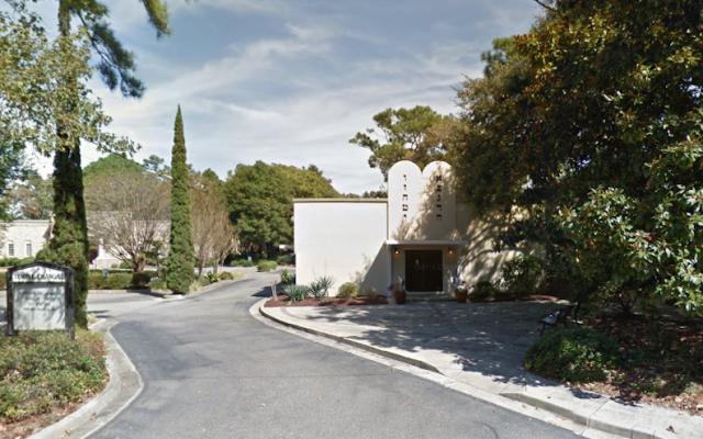 Temple Emanu-El in Myrtle Beach, South Carolina. (Google Maps Street View via JTA)