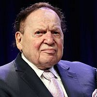 Casino magnate Sheldon G. Adelson in attendance at the 4th Annual Champions Of Jewish Values International Awards Gala at Marriott Marquis Times Square on May 5, 2016, in New York City. (Steve Mack/Getty Images via JTA)