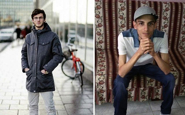 "In this combination of two photos of Omar Alshogre, a 21-year Syrian former detainee, now living in Stockholm, Sweden. The left picture is of Alshogre taken on January 2017 in Stockholm, Sweden. The right picture is of Alshogre in July 2015 in Antakya, Turkey, a month after he got out of Syria's Saydnaya prison, near Damascus. While in detention, Alshogre said he heard men escorted to be hanged and had himself been called for ""execution"" but was spared after a brief trial. (Handout by Omar Alshogre via AP)"