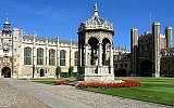The Great Court at Trinity College at Cambridge University (CC BY-SA, Andrew Dunn, Wikimedia Commons)