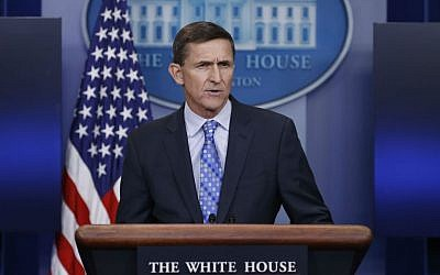 US National Security Adviser Michael Flynn speaks during the daily news briefing at the White House, in Washington, Wednesday, Feb. 1, 2017. (AP Photo/Carolyn Kaster)