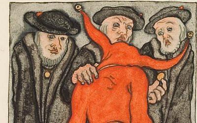 """Ulenspiegel,"" one of controversial German artist Erich Klahn's paintings. (Screen capture/YouTube)"