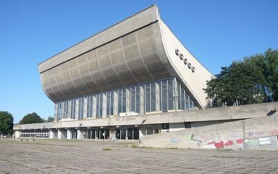 The Vilnius Palace of Concerts and Sports, a complex that was shut down a decade ago, is the site of a proposed $25 million conference center. (JTA)