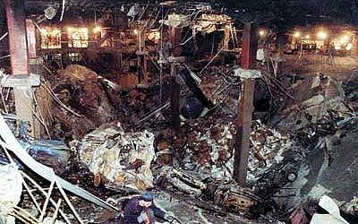 The aftermath of the car bombing at the World Trade Center in New York on February 26, 1993 (Bureau of ATF)