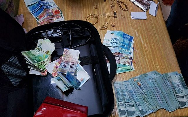 Money given by Hamas to families of terrorists in Jerusalem, confiscated in police raid on February 6, 2017 (Police spokesperson)