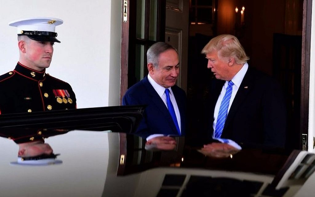 PM Netanyahu and US President Donald Trump at the White House, February 15, 2017 (Avi Ohayun/GPO)