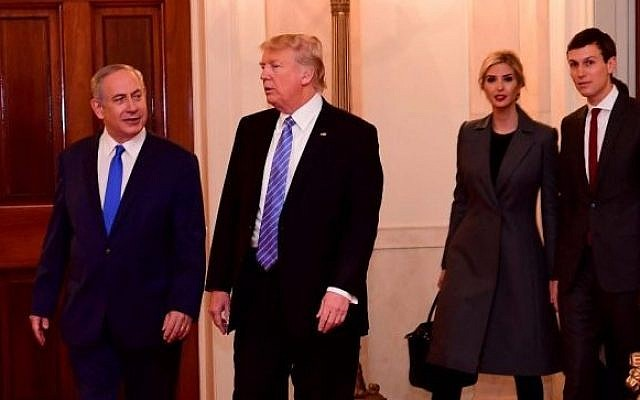 Image result for Trump, Jared Kushner, and Israel