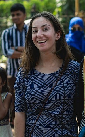 Zara Shaw, a participant of the Ben Azzai Program which sends students to India to help combat global poverty. (Courtesy)