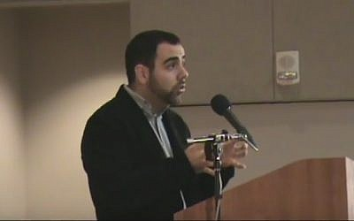 Human Rights Watch Israel and Palestine director Omar Shakir (screen capture: YouTube)