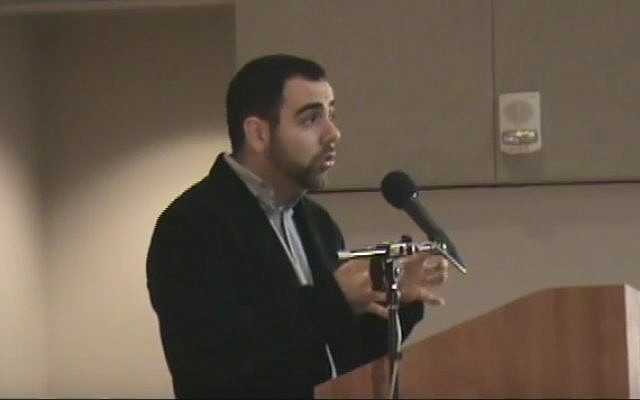 Human Rights Watch Israel and Palestine director Omar Shakir (YouTube screenshot)