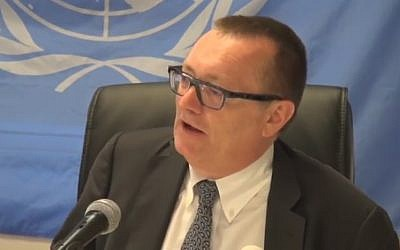 UN Under-Secretary-General for Political Affairs Jeffrey Feltman in 2014 (YouTube screenshot)