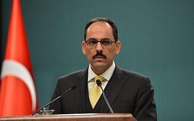 Turkish Presidential Press Secretary Ibrahim Kalin. (CC BY-SA 4.0, Türkiye Cumhuriyeti Cumhurbaskanlığı, Wikimedia Commons)