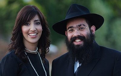 Ari Edelkopf and wife Chana in 2009 in Sochi, Russia. (Courtesy of Federation of Jewish Communities)
