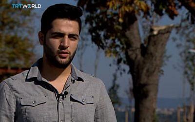 Khaled Khateeb, cinematographer on the Syrian film 'The White Helmets' (YouTube screenshot)