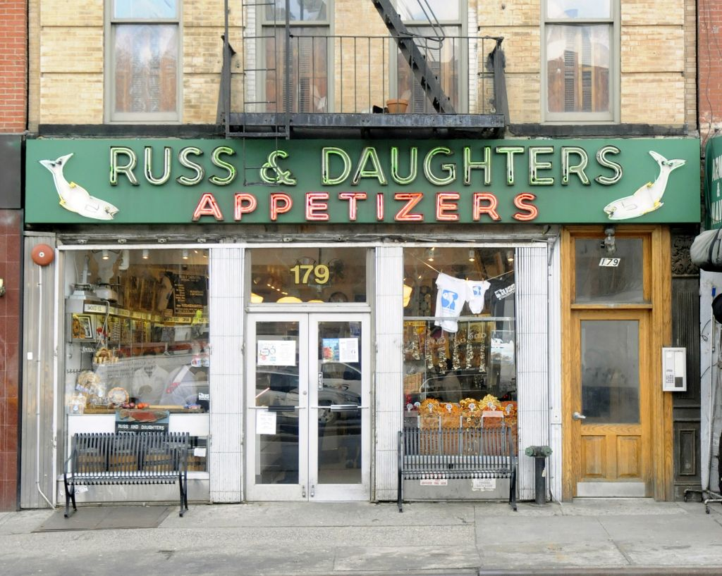 Exterior of the Russ and Daughters storefront on East Houston. (Courtesy Russ and Daughers)