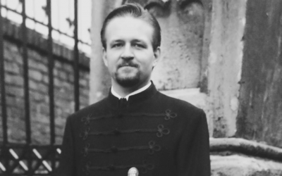Sebastian Gorka, a top aide to US President Donald Trump, seen in an undated photograph wearing the uniform and medal of Vitézi Rend, a Hungarian order of merit with ties to Nazi Germany (Facebook photo)