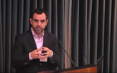 Human Rights Watch's Israel and Palestine director Omar Shakir (YouTube screenshot)