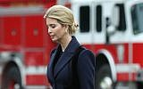 Ivanka Trump walks with her father US President Donald Trump  toward Marine One while departing from the White House, on February 1, 2017, in Washington, DC. (Mark Wilson/Getty Images)