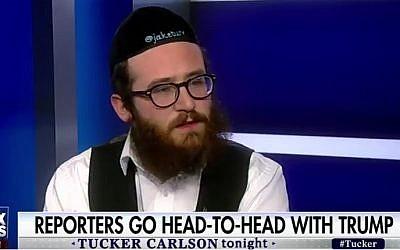 Jewish reporter Jake Turx speaks to Fox News on February 17, 2017 (YouTube screenshot)