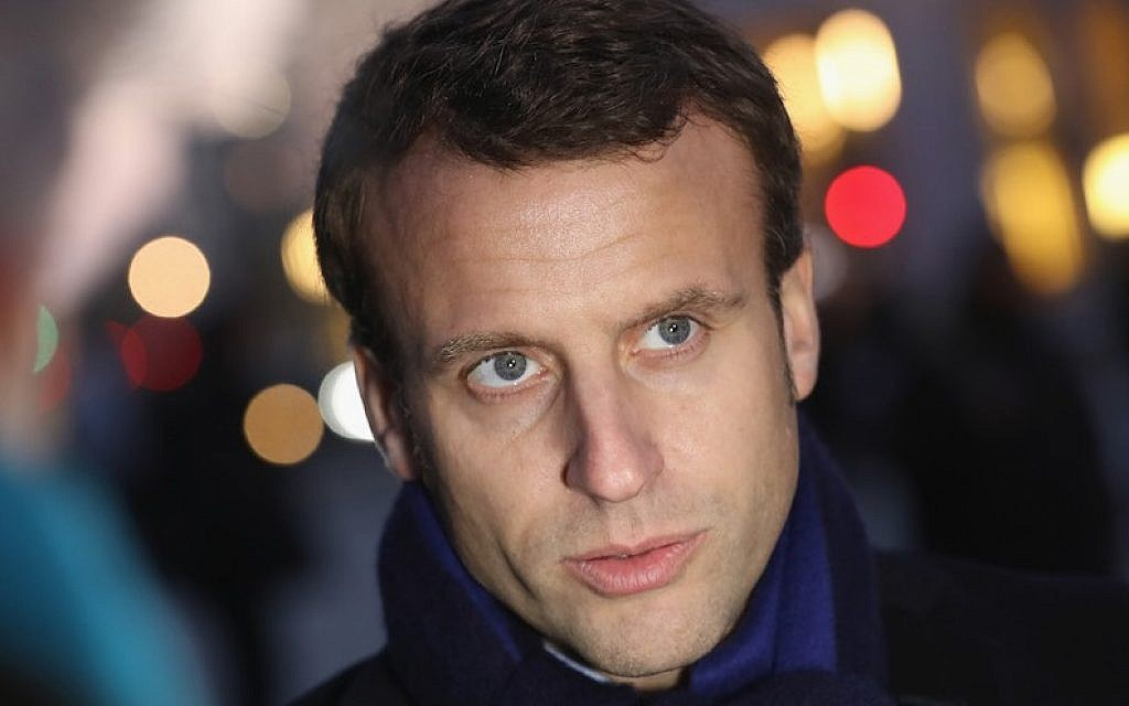 Macron 39 Year Old Maverick Of French Politics Eyes The Presidency The Times Of Israel