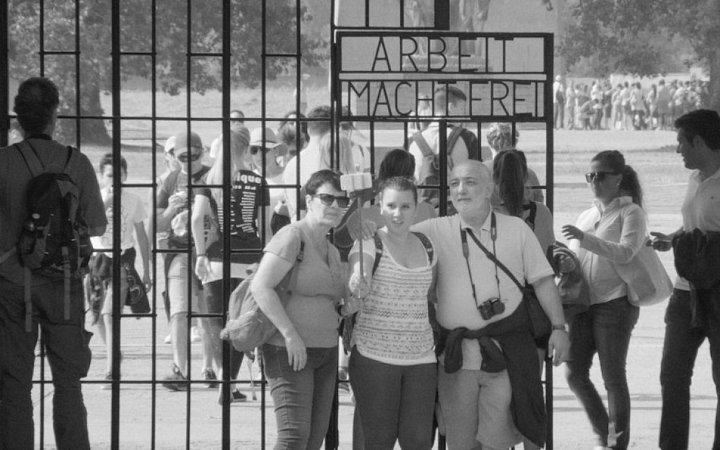 "A scene from ""Austerlitz,"" a documentary that chronicles the tourist experience at two former concentration camps. (Courtesy of Austerlitz/Loznitsa)"