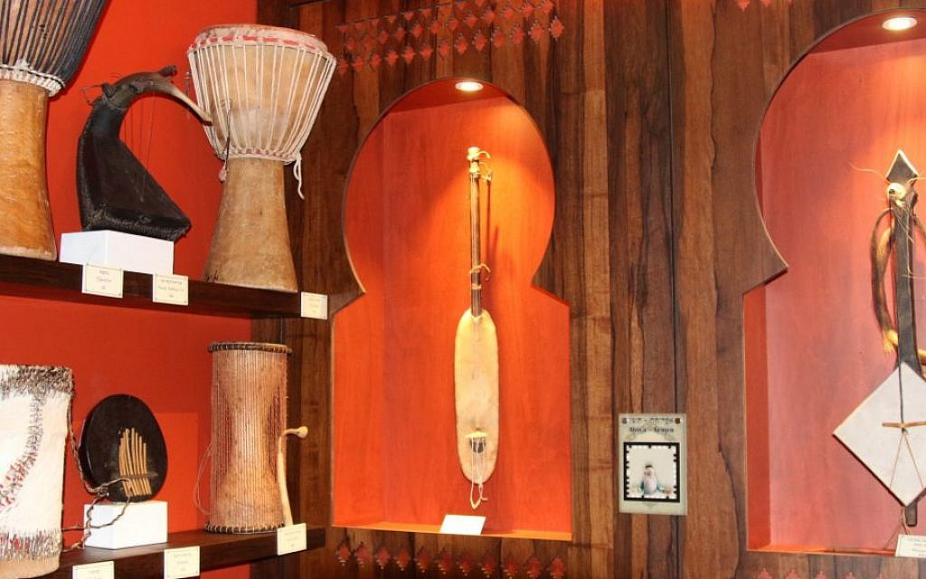 Instruments from Africa and Yemen on display in the Hebrew Music Museum. (Shmuel Bar-Am)