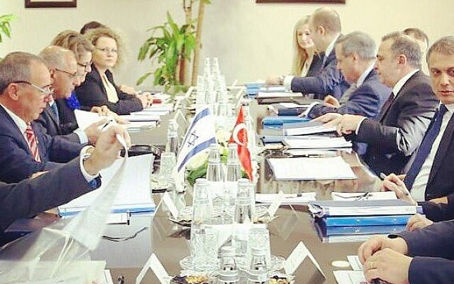 A meeting between Israeli and Turkish diplomats in Ankara, Turkey on February 1, 2017. (Courtesy Yuval Rotem)