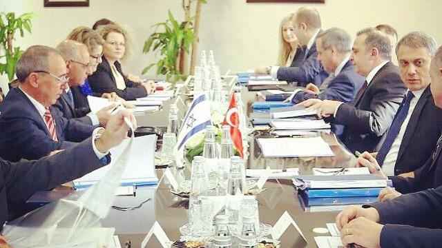 A meeting between Israeli and Turkish diplomats in Ankara, Turkey on February 1, 2017. (Yuval Rotem, courtesy)
