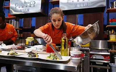 Vancouver Jewish teenager Justine Balin competes on Chopped Canada Teen, January 2017. (Food Network Canada)