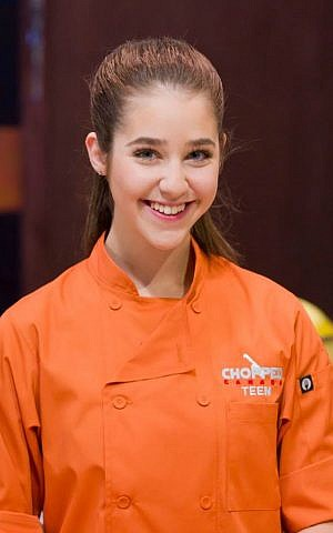 Vancouver Jewish teenager Justine Balin wins Chopped Canada Teen, January 2017. (Food Network Canada)