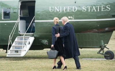 This file photo taken on February 1, 2017 shows US President Donald Trump and his daughter Ivanka walk to board Marine One at the White House in Washington, DC. (AFP PHOTO / NICHOLAS KAMM)