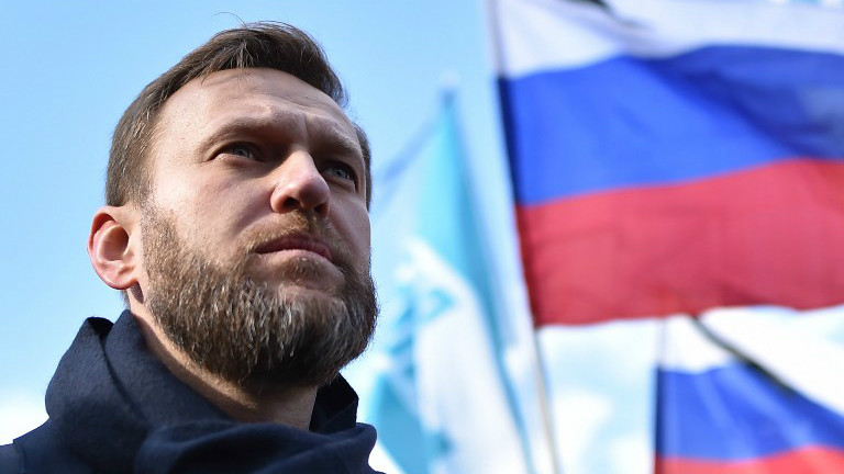 Russian opposition leader and anti-corruption blogger Alexei Navalny attending a memorial march marking the one-year anniversary of the assassination of Russian politician Boris Nemtsov in central Moscow, February 27, 2016. (KIRILL KUDRYAVTSEV / AFP)