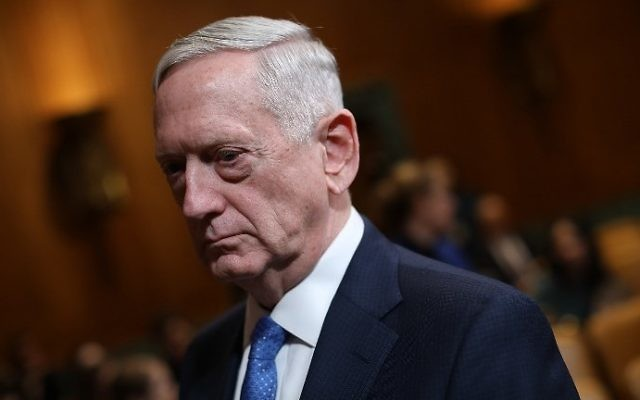 US Defense Secretary James Mattis waits to testify before the Senate Appropriations Committee, March 22, 2017 in Washington, DC. (Win McNamee/Getty Images/AFP)