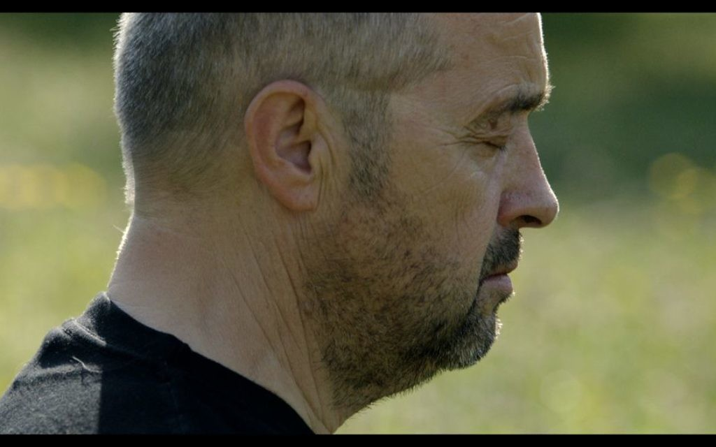 A screenshot of Bogdan Bialek meditating, from the movie 'Bogdan's Journey.' (Courtesy)