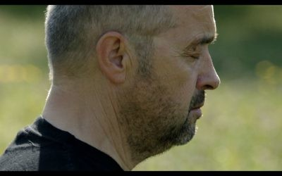 A screenshot of Bogdan Bialek meditating, from the movie 'Bogdan's Journey.' (Courtesy)