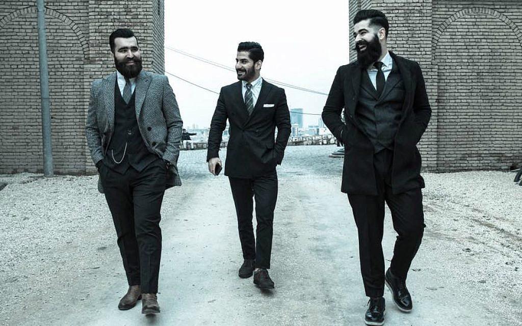 Mr. Erbil founders, from left: Omer Nihad, Goran Pshtiwan, Ahmed Nauzad in Erbil, Iraqi Kurdistan, January 2017 (@nzcam )