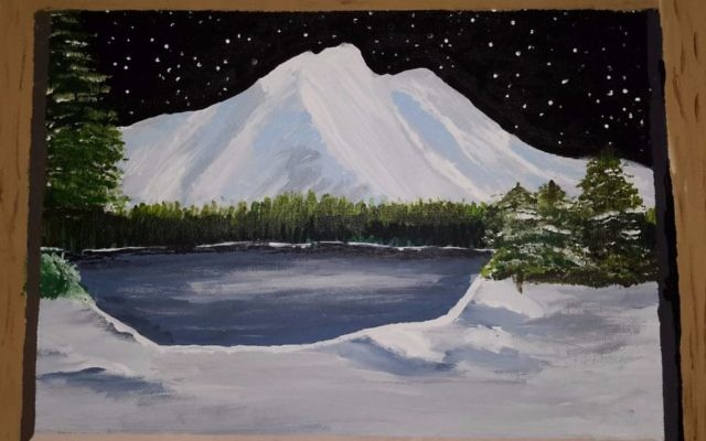 A painting displayed at AACI's young artists show currently on display through April 26 (Courtesy AACI)