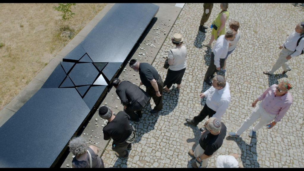 The Jan Karski Society, an anti-discrimination organization that Bogdan Bialek chairs, helped restore this memorial to the victims of the Kielce pogrom. (Screeshot, courtesy)