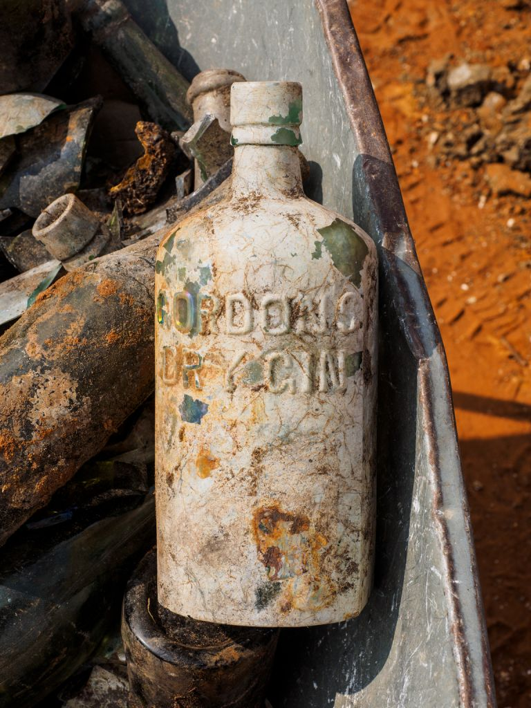 Archaeologists uncork 100-year-old liquor stash left by British