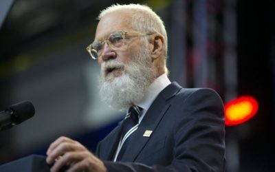 David Letterman at the 5th anniversary of Joining Forces and the 75th anniversary of the USO, May 5, 2016. (AP Photo/Pablo Martinez Monsivais)