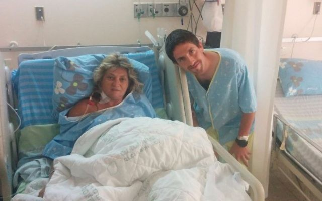 Avi Appelbaum donated his kidney to Ilanit, who had been undergoing dyalisis for seven years previously. (Courtesy)