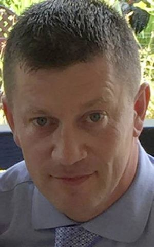 Undated handout photo released by Metropolitan Police on Wednesday, March 22, 2017 of police officer Keith Palmer who was killed during the attack on the Houses of Parliament in London. (Metropolitan Police via AP)