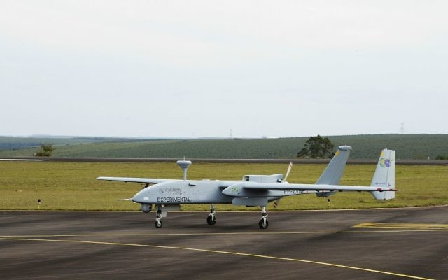 IAI's Caçador MALE UAV-2 has received Brazil's Ministry of Defense approval as a Strategic Defense Product (Courtesy)