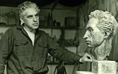 Chaim Stephenson in his studio. (Courtesy)