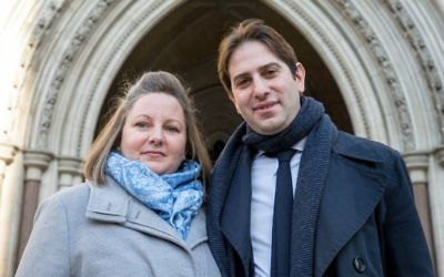 Rebecca Steinfeld and Charles Keidan outside the Court of Appeal. (Mark Thomas)