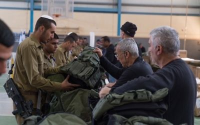 Soldiers receive equipment as part of new army program unveiled on March 7, 2017. (IDF Spokesperson's Unit)